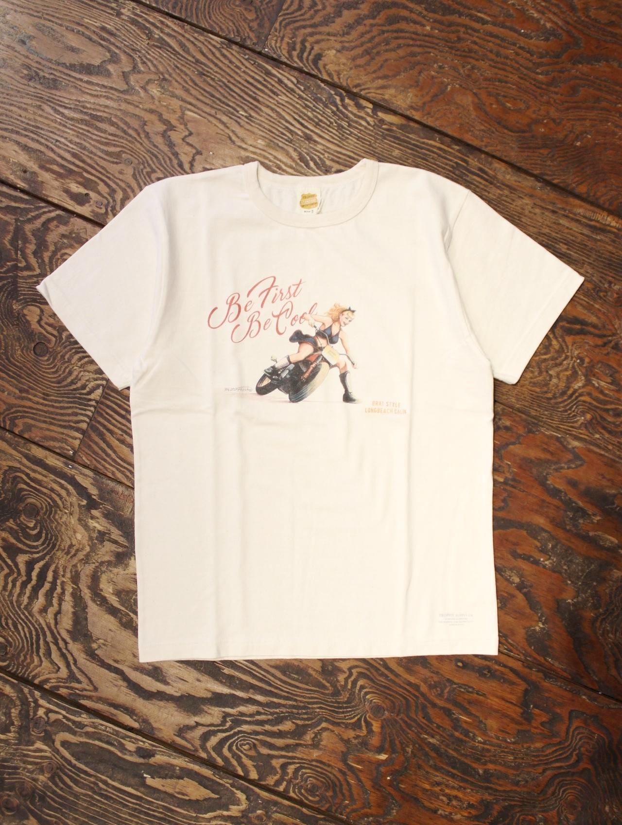 TROPHY CLOTHING  「DIRT TRACK LADY TEE」 ボリュームコットン クルーネックティーシャツ