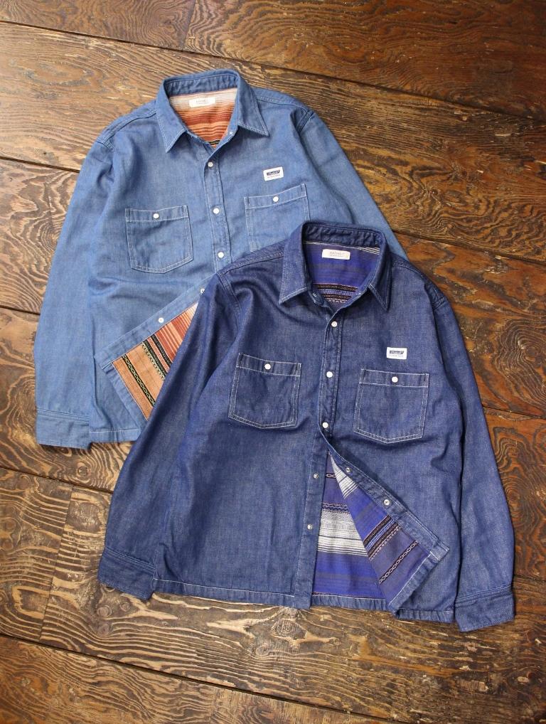 RADIALL  「CONQUISTA - REGULAR COLLARED SHIRT L/S」 レギュラーカラーデニムシャツ