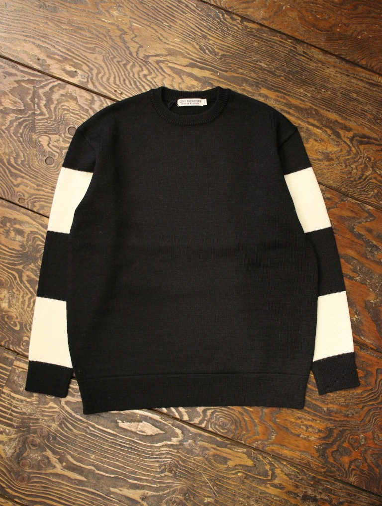 COOTIE  「Sleeve Border Knit Sweater」  クルーネックセーター