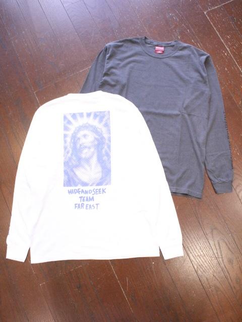 HIDEANDSEEK 「Jesus L/S Tee」 ロングスリーブティーシャツ