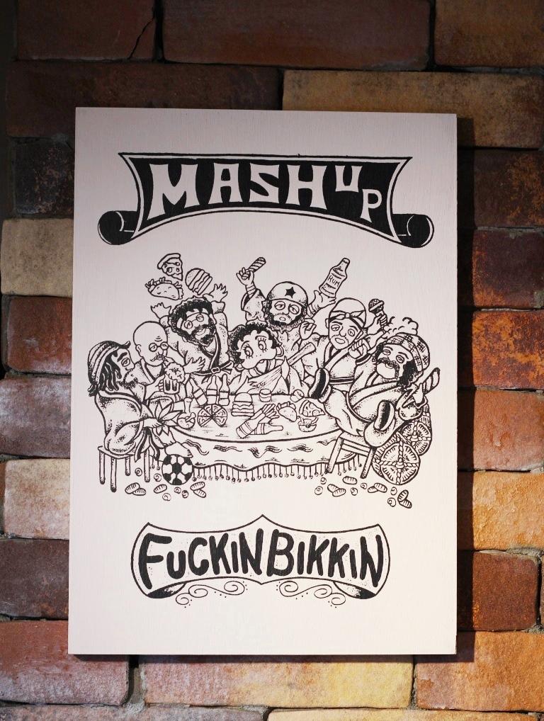 FUCKIN BIKKIN × MASH UP  HORIE 12th anniversary  「 FUCKIN BIKKIN × MASH UP WOOD PANEL 」 ウッドパネル
