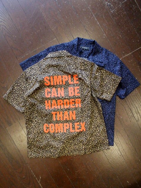 CAPTAINS HELM  「LEOPARD PRINT OPEN WIDE S/S SHIRTS」  オープンカラーシャツ