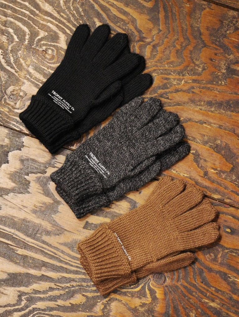 TROPHY CLOTHING   「Watchman Knit Glove 」  ウールニットグローブ
