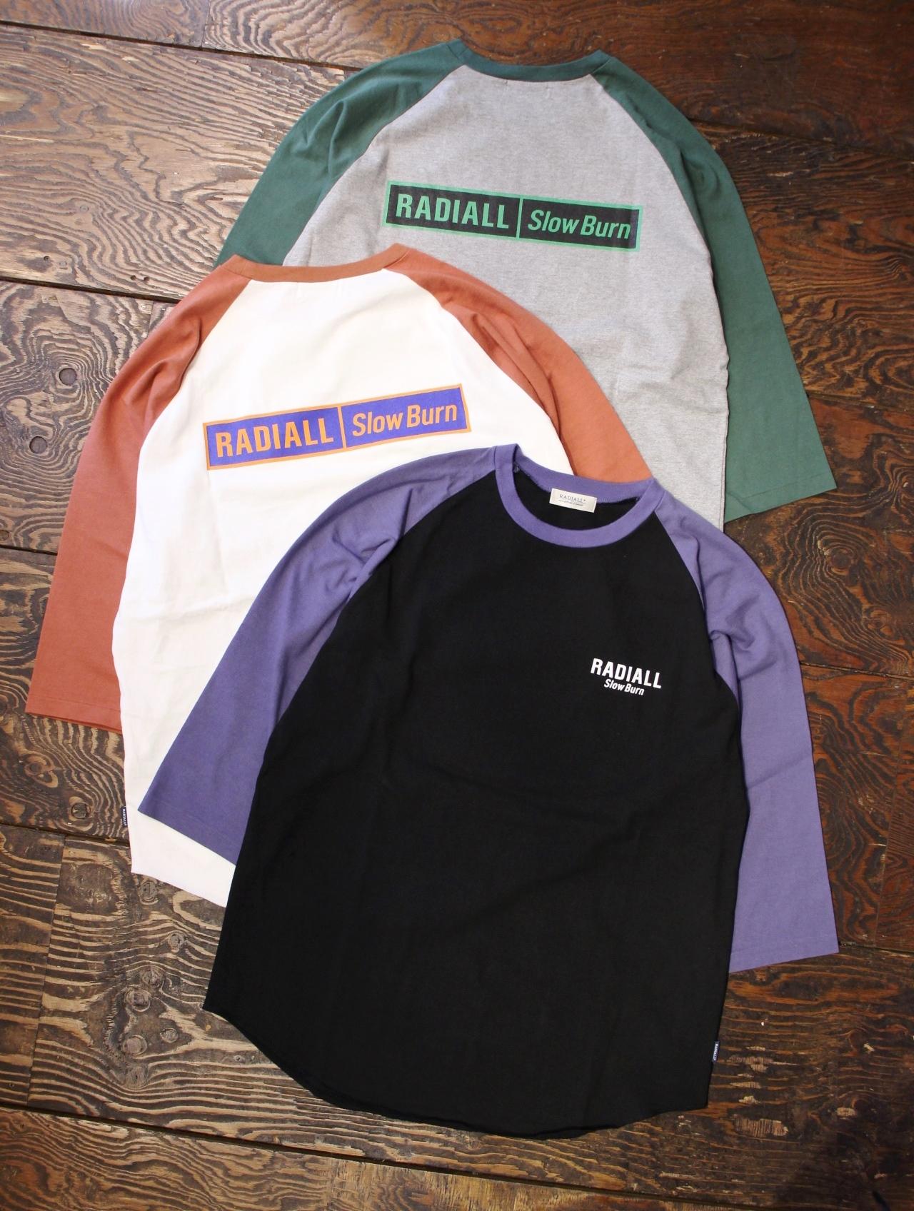 RADIALL    「SLOW BURN - CREW NECK T-SHIRT 3Q/S」 7分袖ティーシャツ