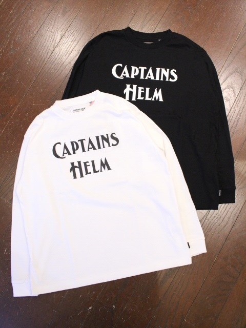 【NEW YEAR ITEM !!】 CAPTAINS HELM   「 #BACTERIA-PROOF LOGO L/S TEE  」  プリントロンティー
