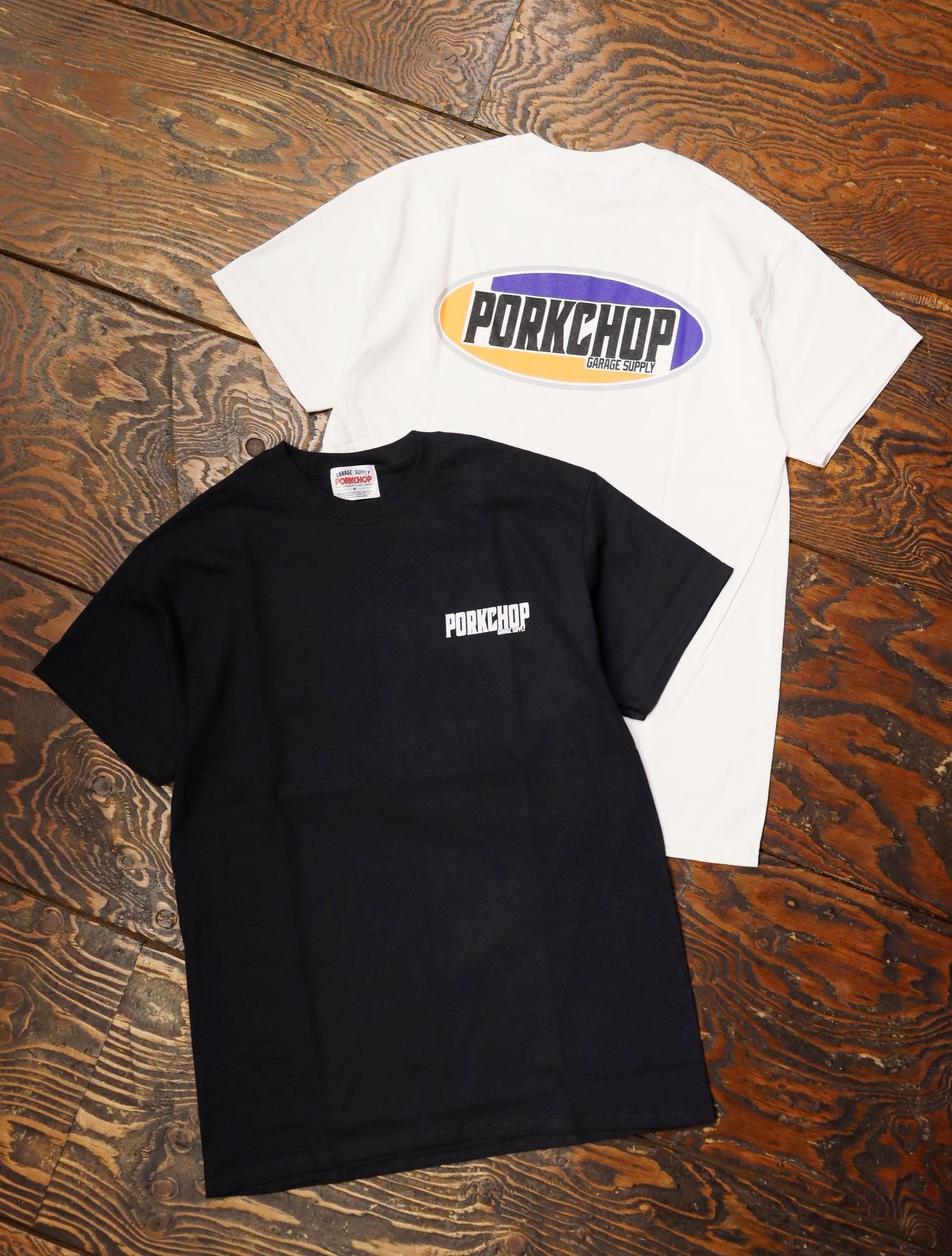 【4月3日 発売!!】 PORKCHOP GARAGE SUPPLY   「 2nd Oval TEE 」  プリントティーシャツ