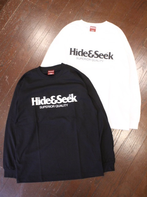 HIDEANDSEEK 「Logo L/S Tee(21ss-1)」 ロングスリーブティーシャツ