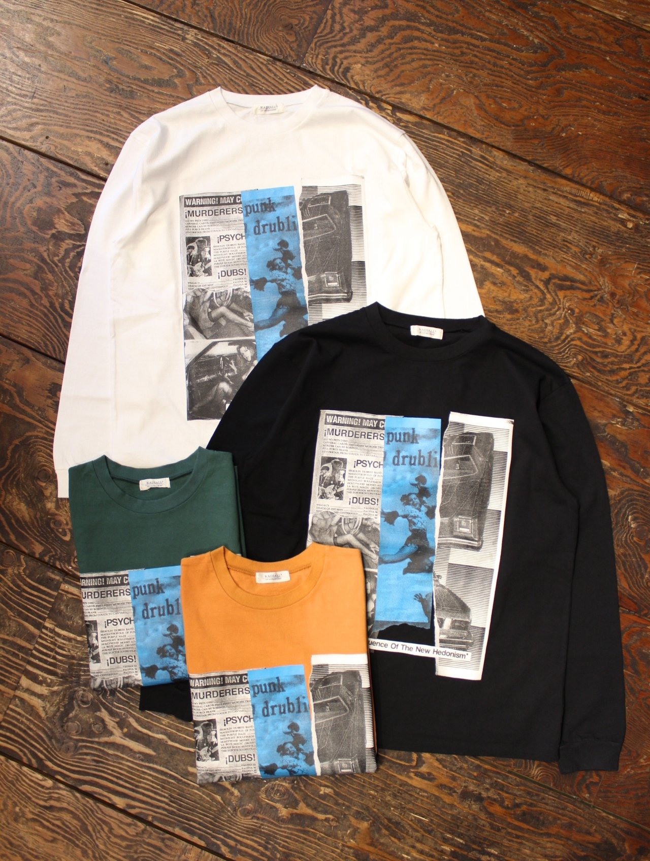RADIALL  「HEDONISM - CREW NECK T-SHIRT L/S」 プリントロンティー