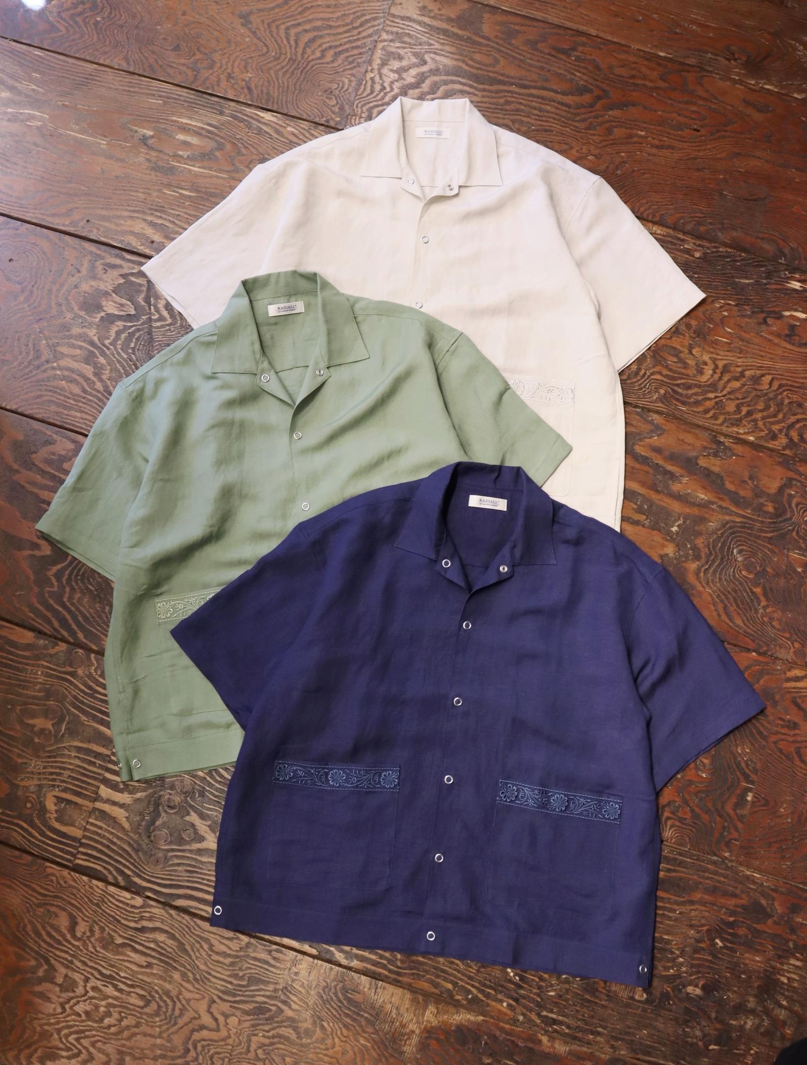RADIALL  「FLOWER - OPEN COLLARED SHIRT S/S」  オープンカラーシャツ