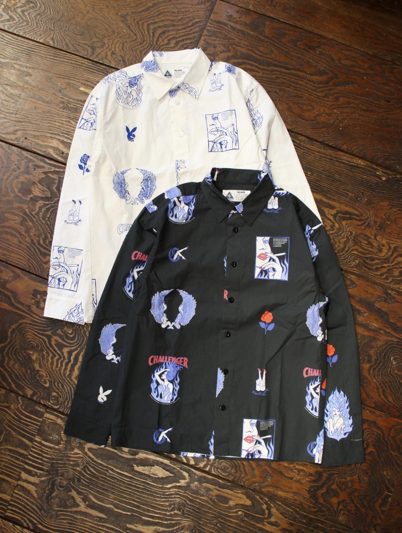 CHALLENGER   「L/S FIRE LADY SHIRT」 レギュラーカラーシャツ