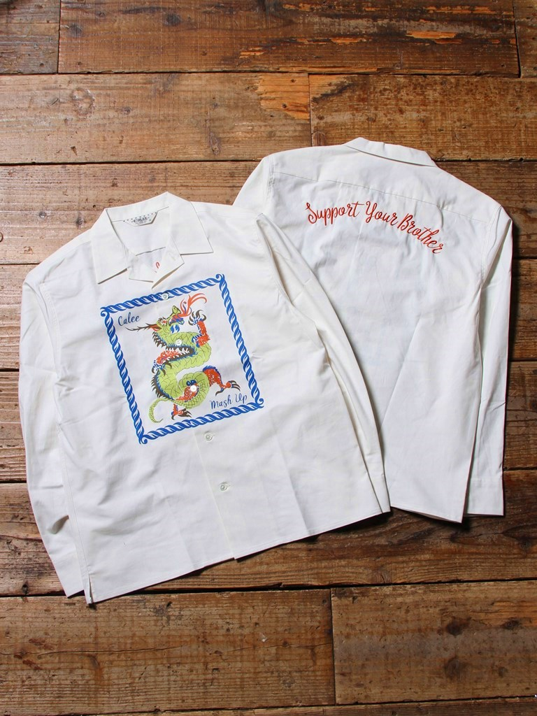 【 Anniversary Limited Item !! 】 CALEE × MASH UP 「15th ANNIVERSARY L/S SHIRTS」  オープンカラーシャツ