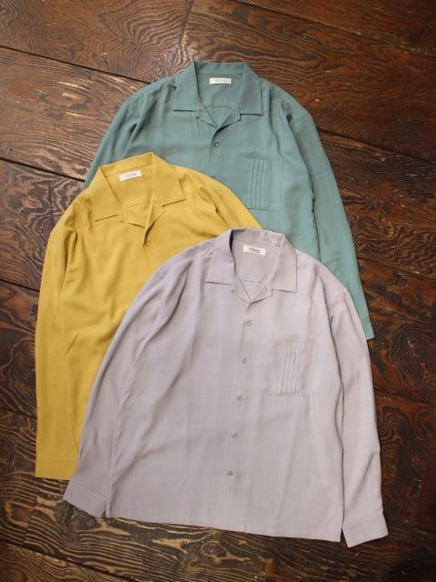 RADIALL  「INVICTA - OPEN COLLARED SHIRT L/S」  オープンカラーレーヨンシャツ
