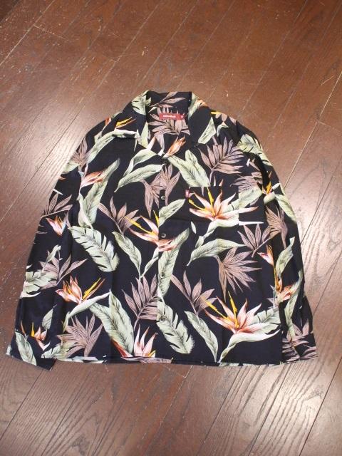 HIDEANDSEEK 「Hawaiian L/S Shirt」 レーヨンアロハシャツ