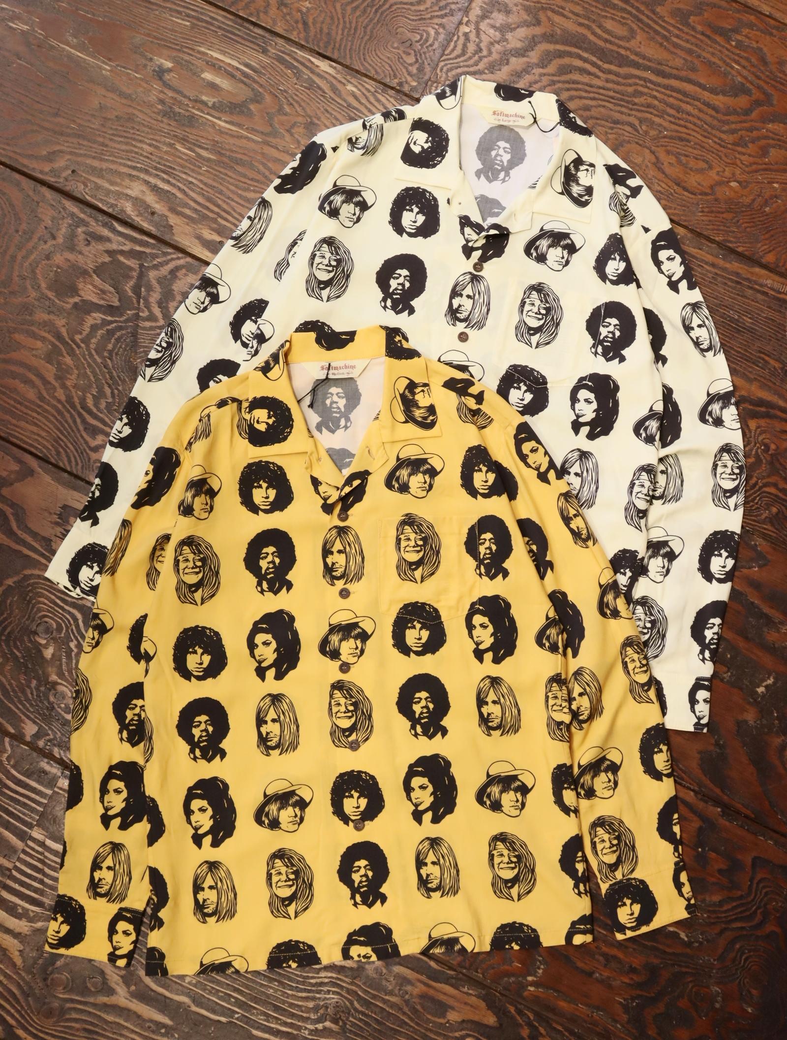 SOFTMACHINE  「TWENTY SEVEN SHIRTS L/S」 オープンカラーシャツ