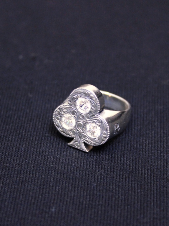 ANTIDOTE BUYERS CLUB by Cootie Productions  「Engraved Club Ring 」 SILVER950製 ピンキーリング