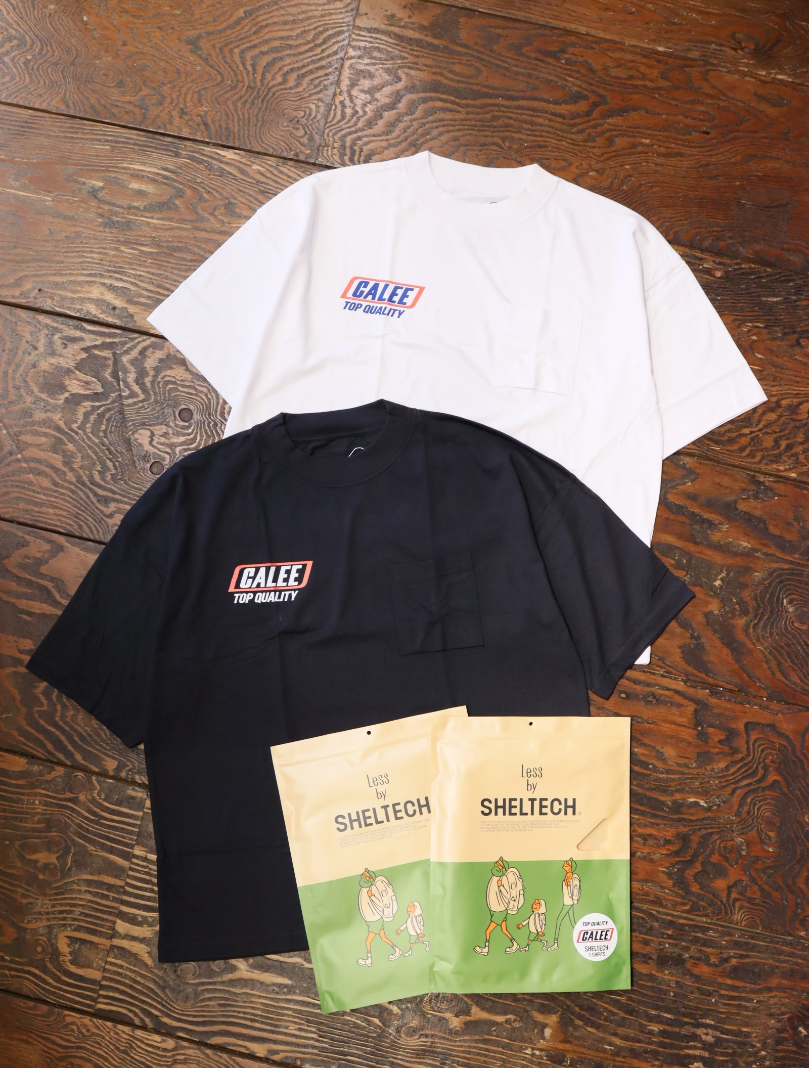 CALEE × SHELTECH 「DROP SHOULDER T-SHIRT 」   ドロップショルダーティーシャツ