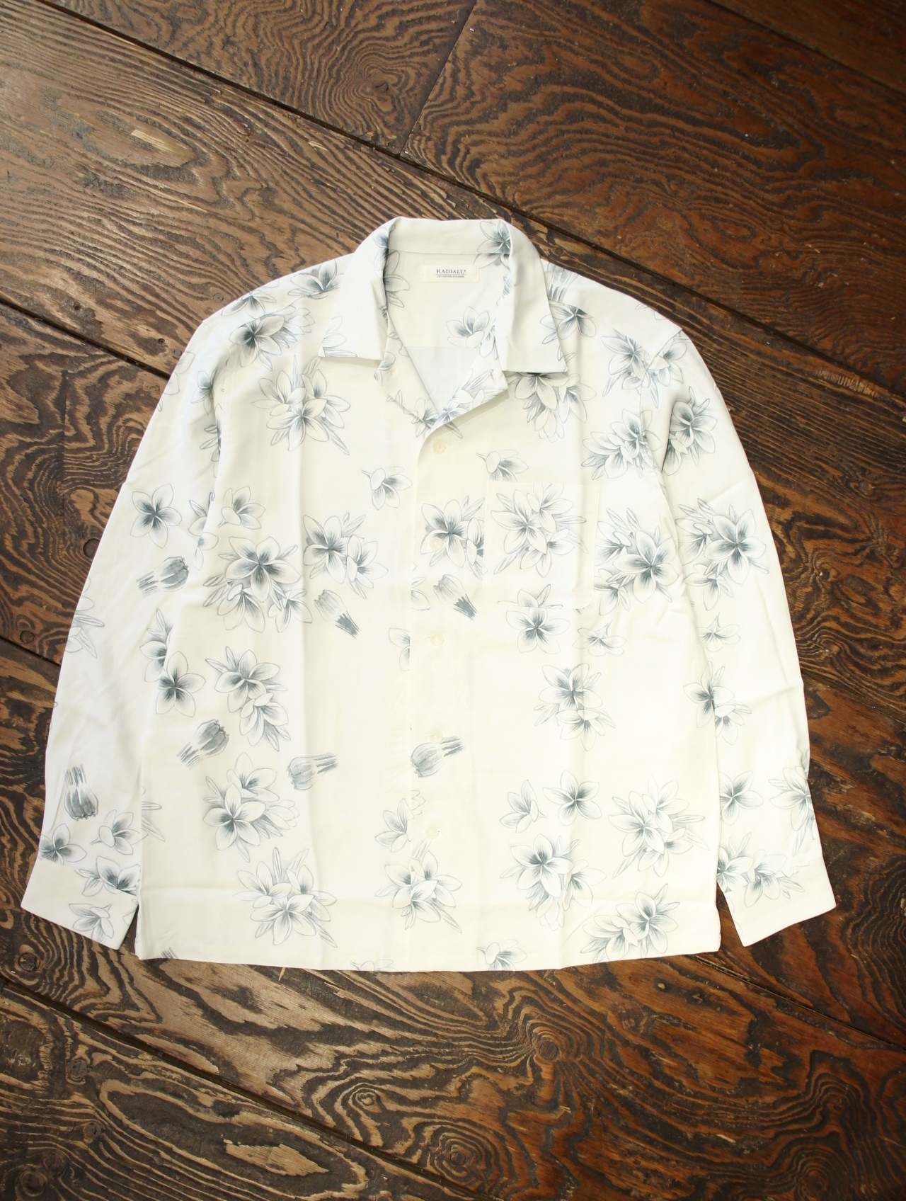 RADIALL 「REQUESTS MUSIC - OPEN COLLARED SHIRT L/S」  オープンカラーアロハシャツ
