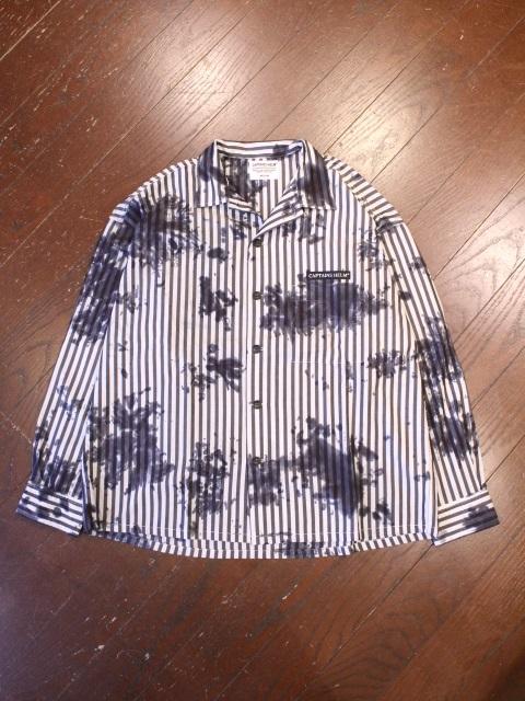 CAPTAINS HELM   「 #TIE-DYE STRIPE SHIRTS 」  タイダイ染めオープンカラーシャツ