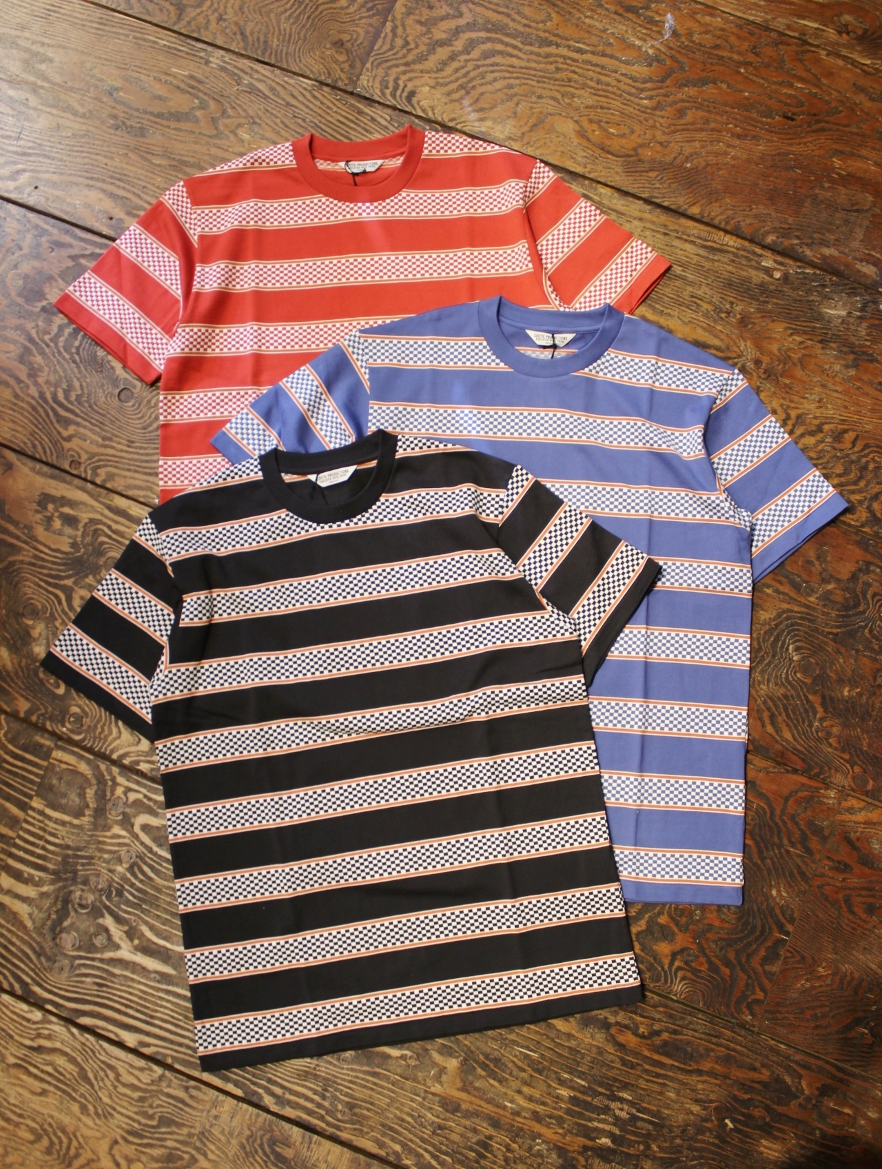 COOTIE  「 Checkered Border S/S Tee」 ボーダーティーシャツ