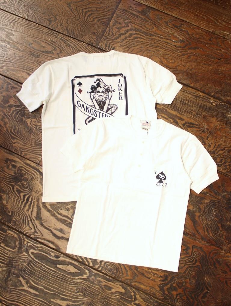 GANGSTERVILLE   「THUG QUEEN − S/S HENREY T-SHIRTS」  ポケットヘンリーネックティーシャツ