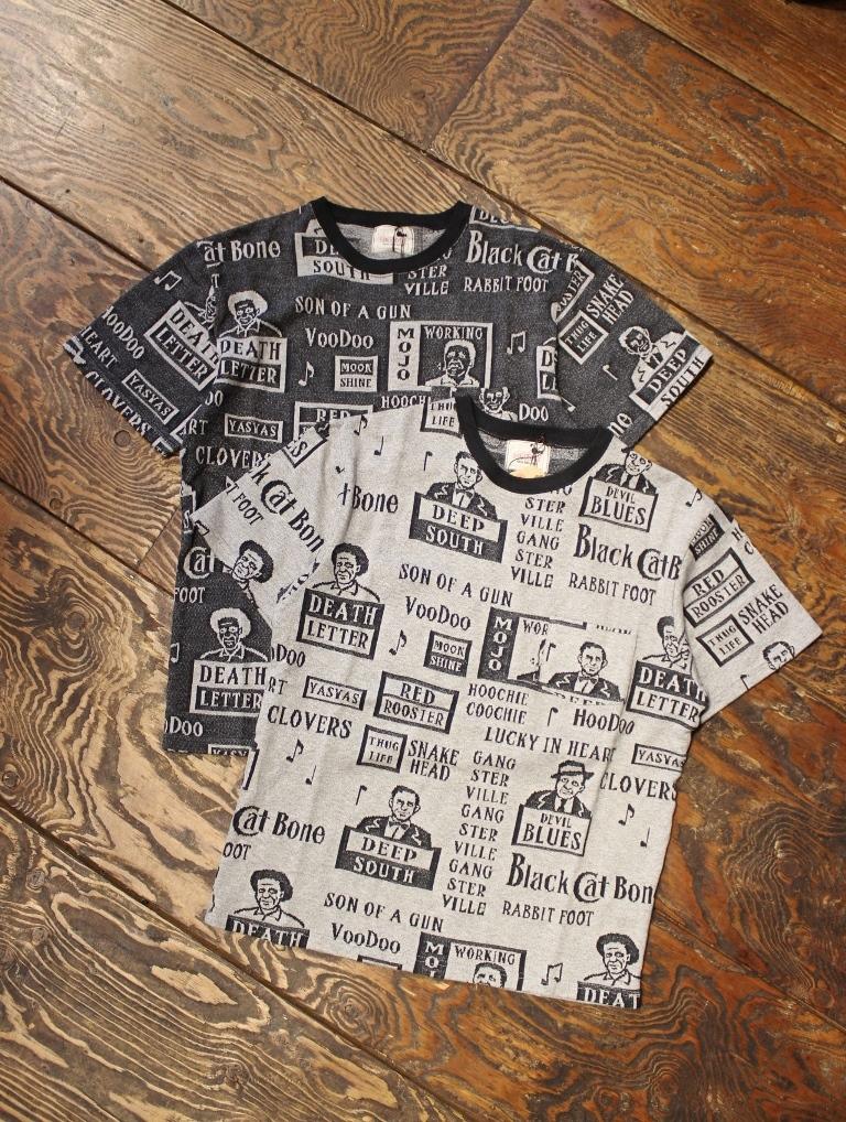 GANGSTERVILLE   「MOJO - S/S CREW NECK T-SHIRTS」  ジャガードティーシャツ