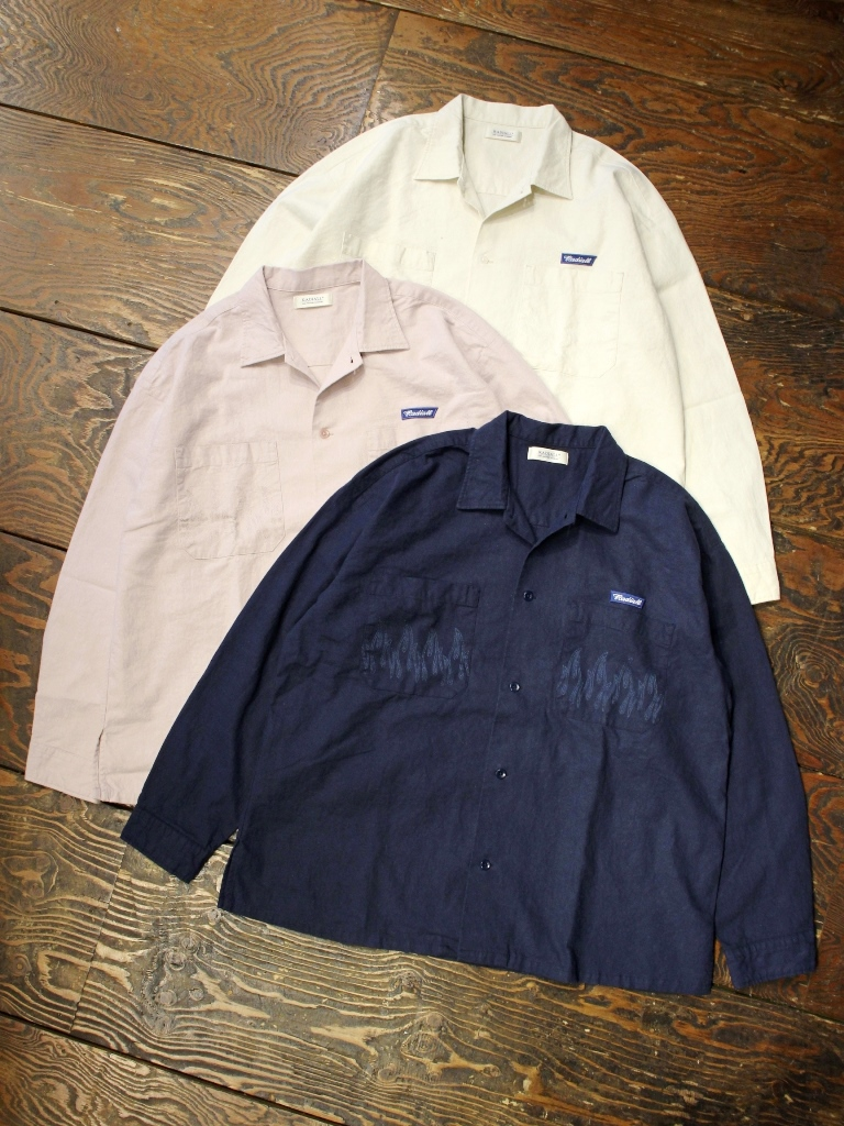 RADIALL  「SLOW BURN - OPEN COLLARED SHIRT L/S」  オープンカラーシャツ