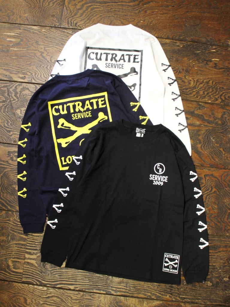 CUT RATE  「CROSSBONE L/S T-SHIRT」 プリントロンティー
