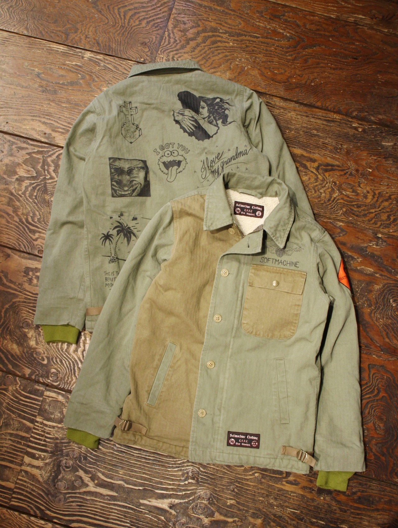 SOFTMACHINE   「 COMPIlATION JK 」  A-2 タイプデッキジャケット