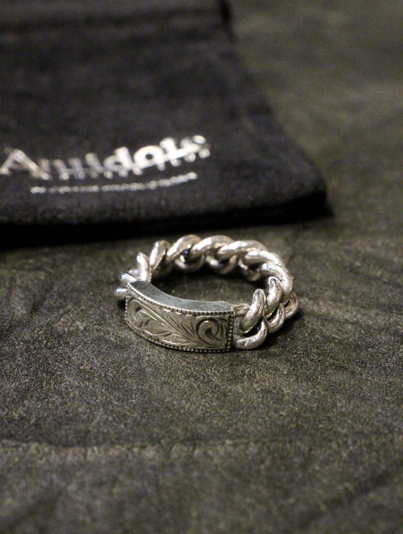ANTIDOTE BUYERS CLUB by Cootie Productions   「Engraved ID Ring」 SILVER950製 リング