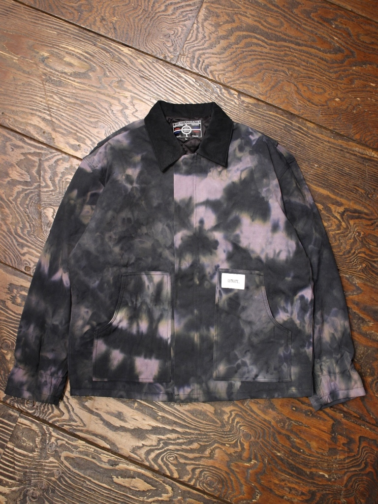 CUT RATE  「DUCK TYEDIED JACKET」 タイダイ染めワークジャケット