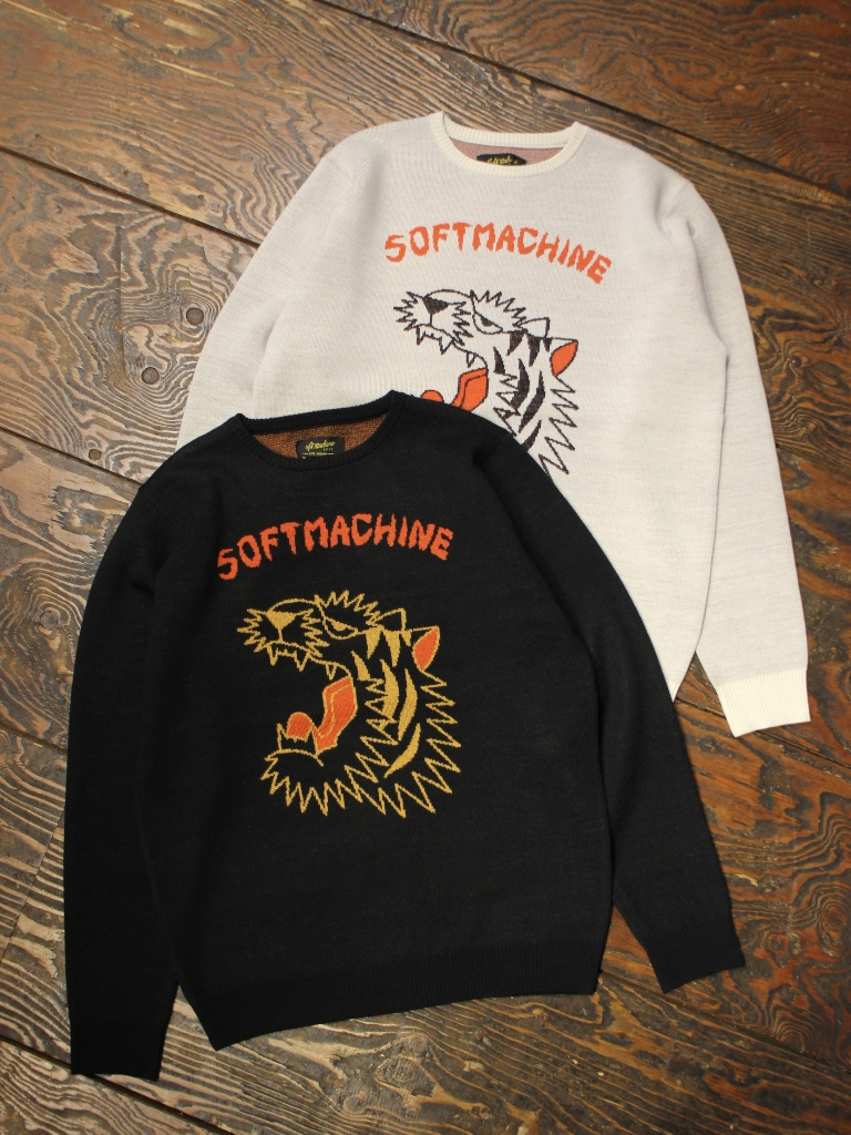 SOFTMACHINE  「ROAR SWEATER」 クルーネックニットセーター
