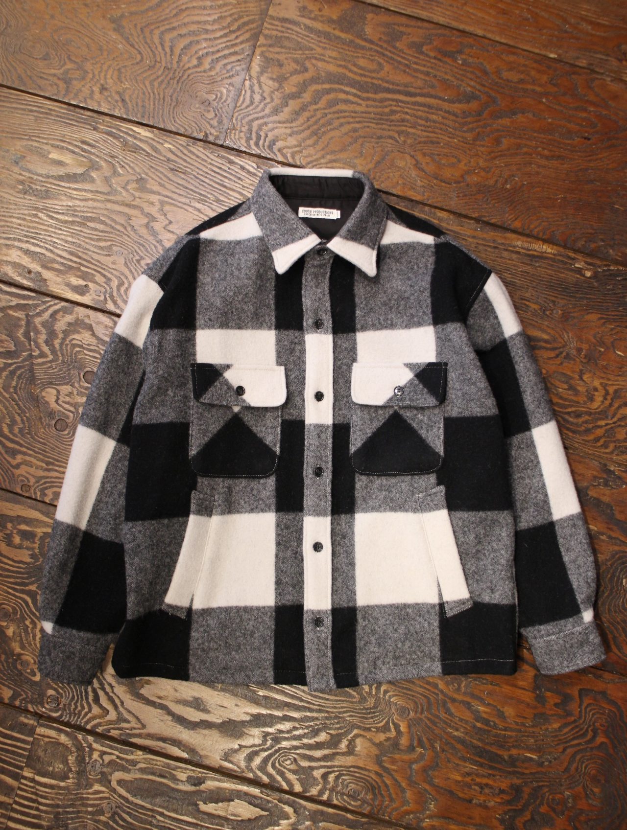 COOTIE  「 Napping Buffalo Check CPO Jacket 」 ウールCPOジャケット