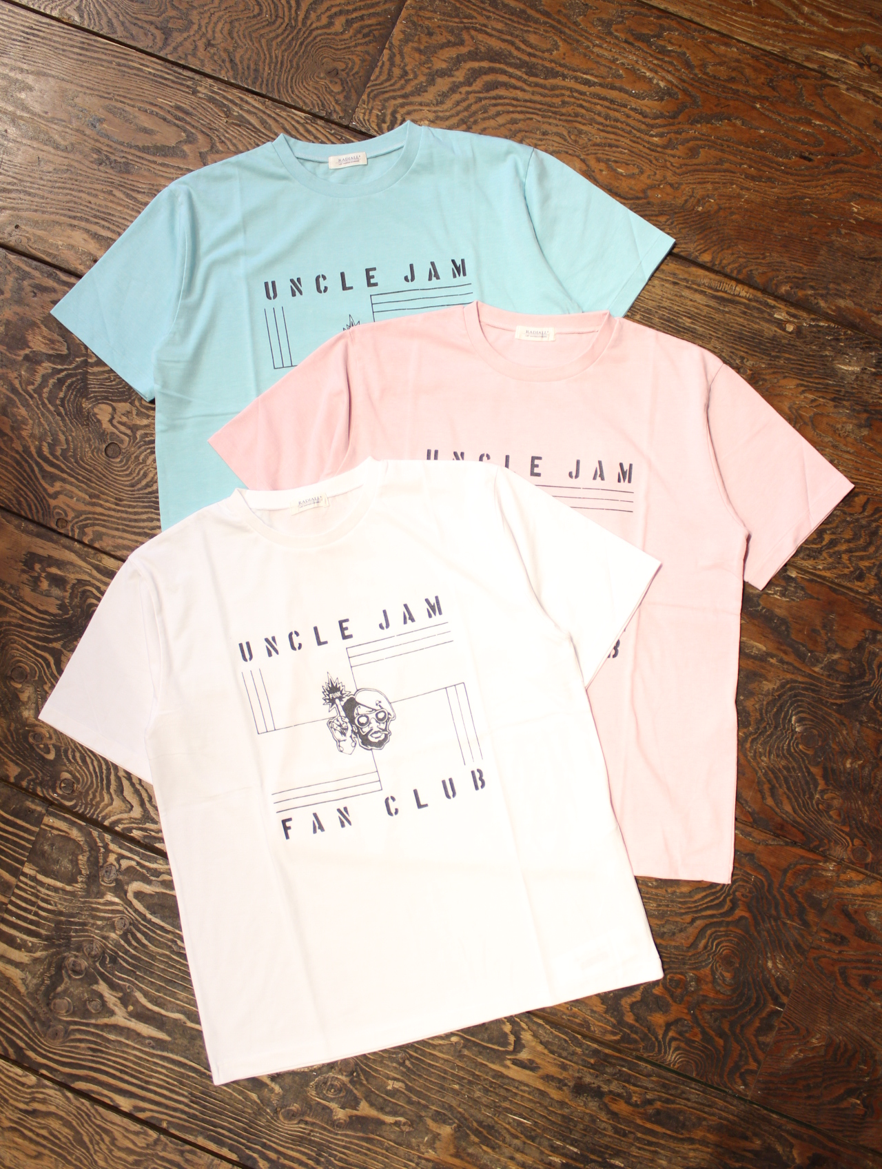 RADIALL  「UNCLE JAM - CREW NECK T-SHIRT」 プリントティーシャツ
