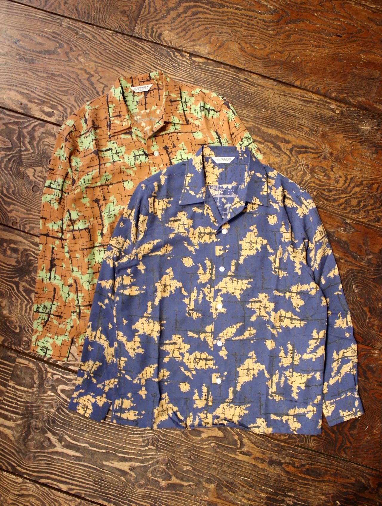 COOTIE  「 Atomic Camouflage L/S Shirt 」 レーヨンシャツ
