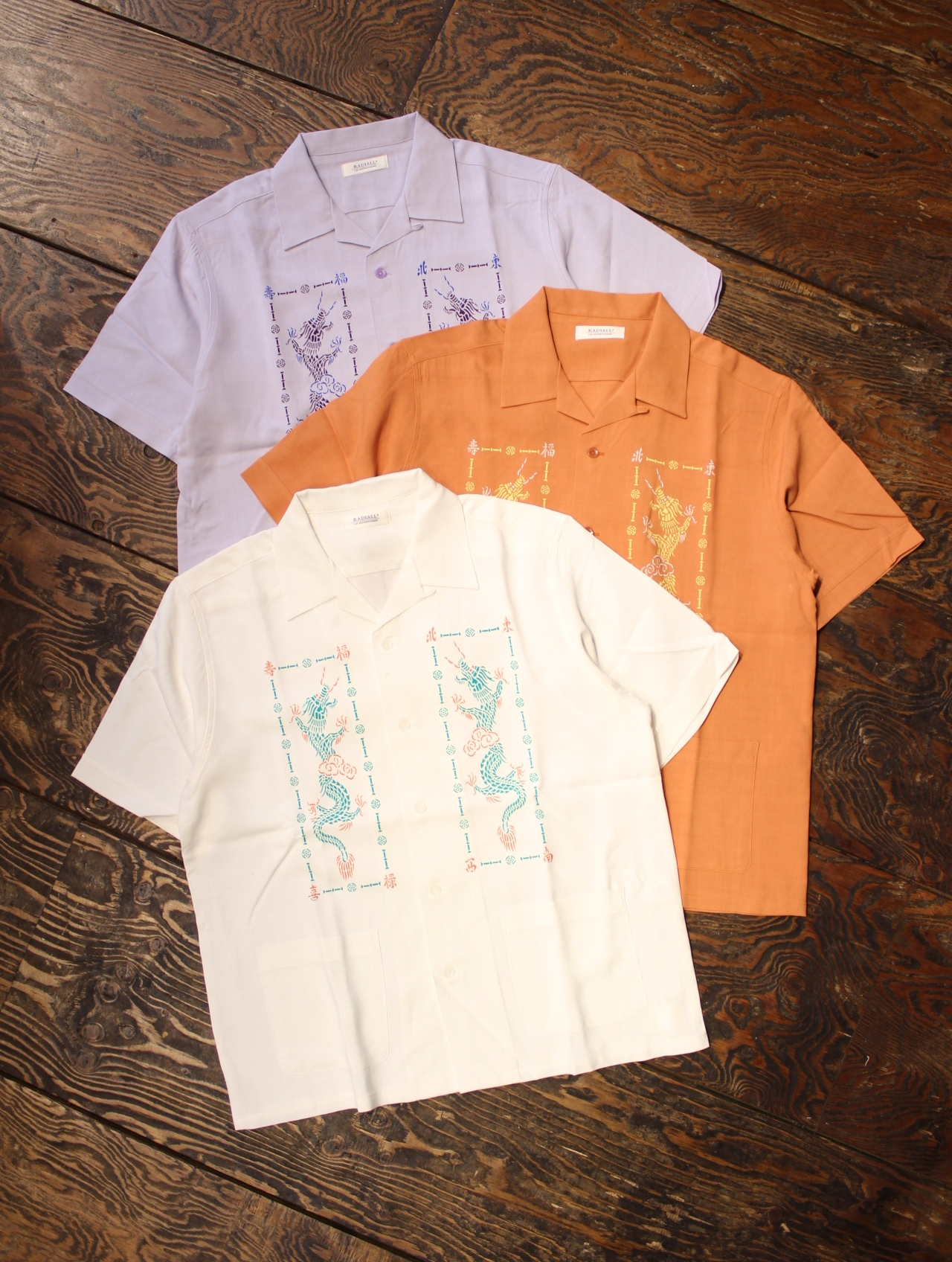 RADIALL  「SHAOLIN DUBBIES - OPEN COLLARED SHIRT S/S」  オープンカラー レーヨンシャツ