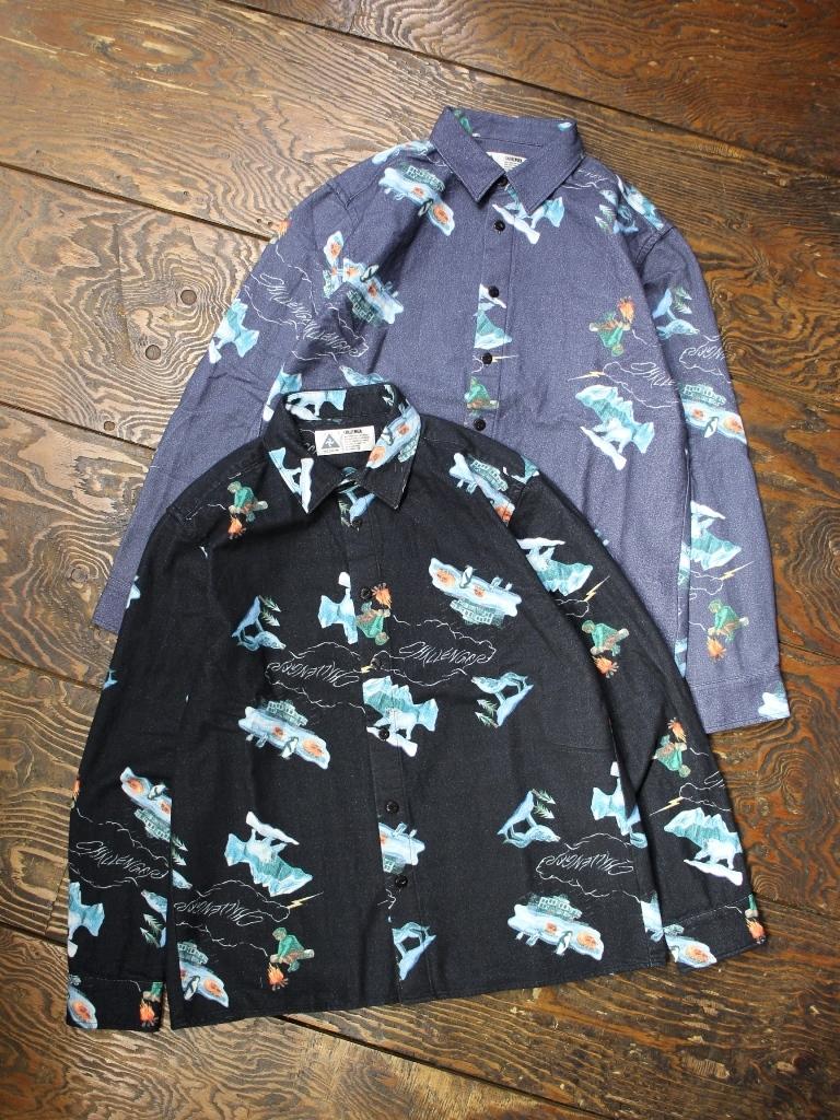 CHALLENGER    「L/S FLANNELPRINTED SHIRT」  プリントシャツ