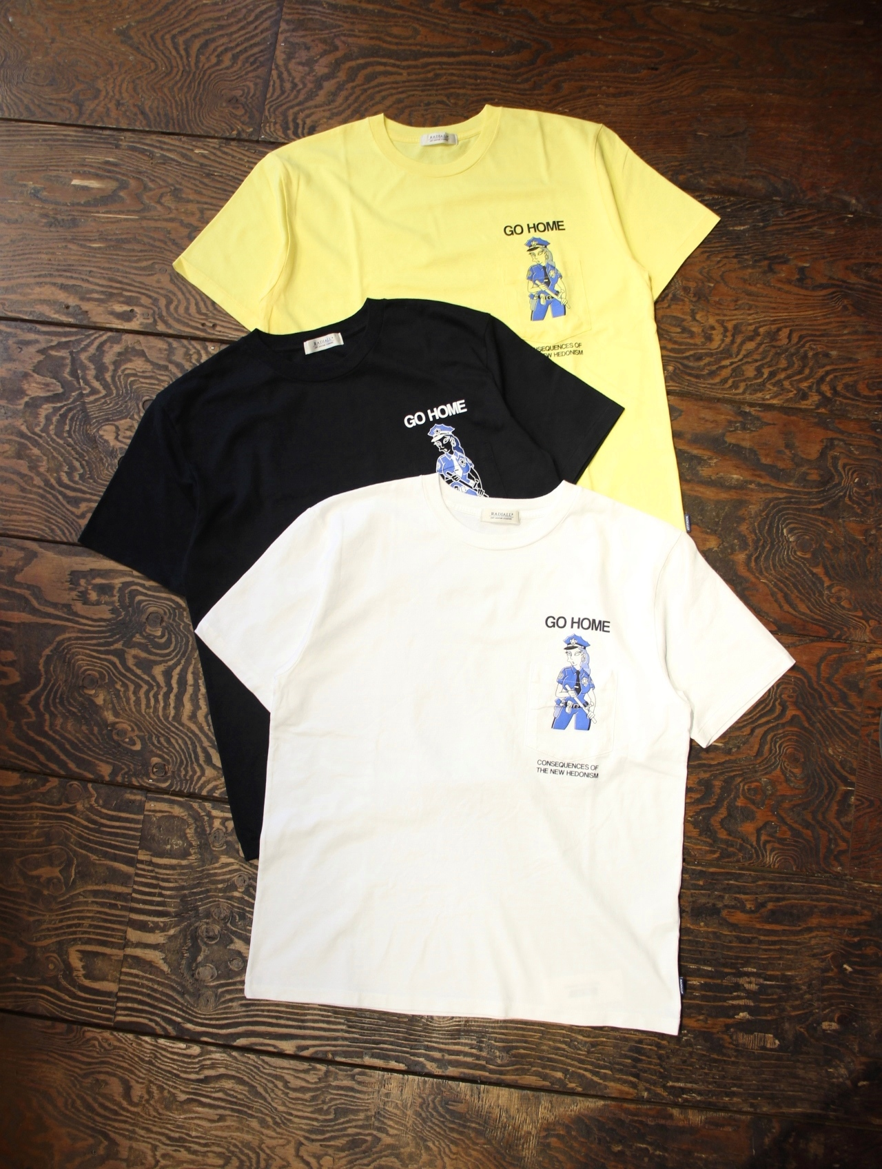 RADIALL    「LADY COP - CREW NECK POCKET T-SHIRT S/S」 ポケットティーシャツ