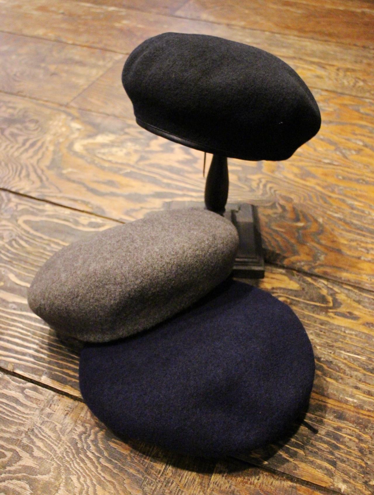 TROPHY CLOTHING  「Wool Basque」  ウールベレー帽