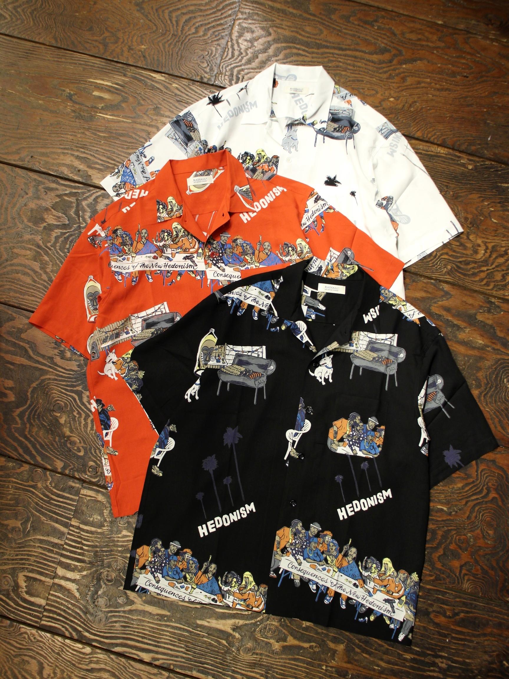 RADIALL  「BIBLE - OPEN COLLARED SHIRT S/S」  オープンカラーレーヨンシャツ