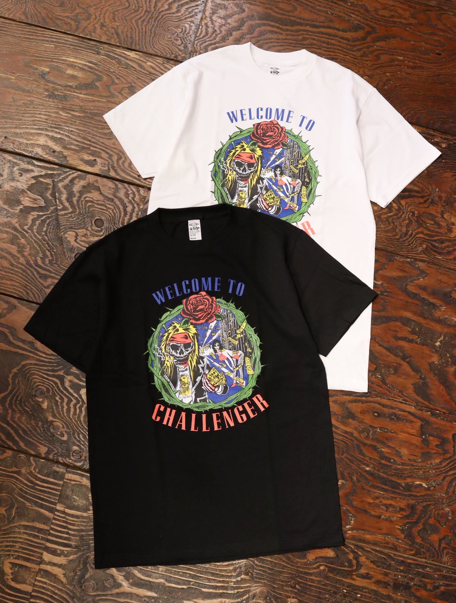 CHALLENGER  「WELLCOME TO CHALLENGER TEE」  プリントティーシャツ