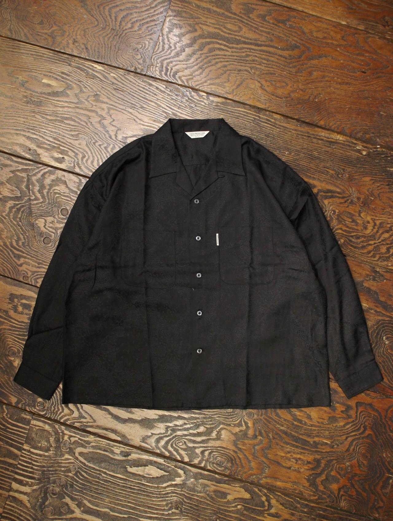 COOTIE  「 Bandana Jacquard Open-Neck L/S Shirt 」 オープンカラージャガードシャツ