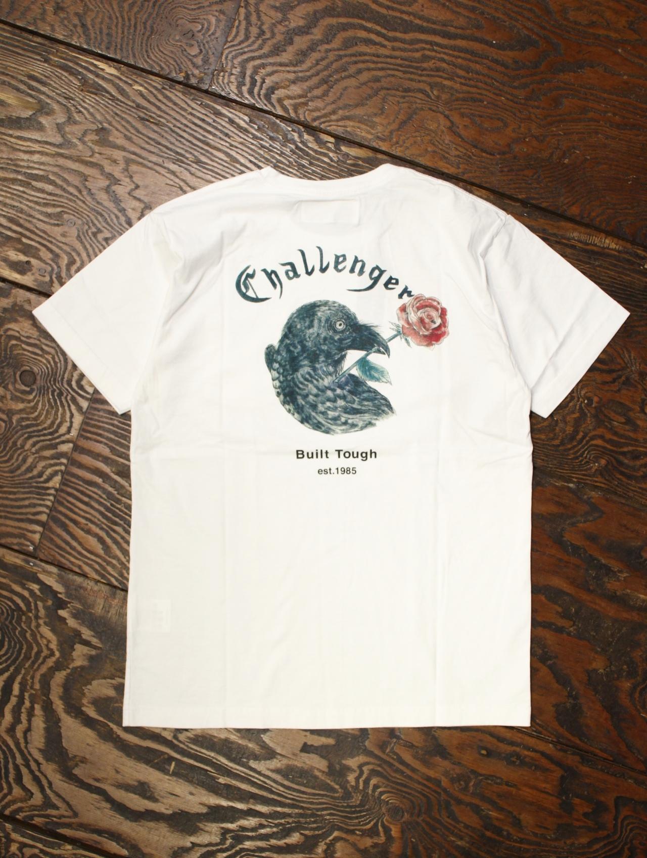 CHALLENGER  「CROW & ROSE TEE」 プリントポケットティーシャツ