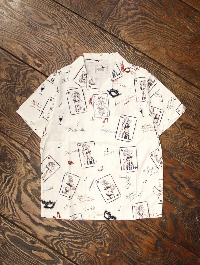 GANGSTERVILLE   「JACKPOT - S/S SHIRTS」  オープンカラーシャツ