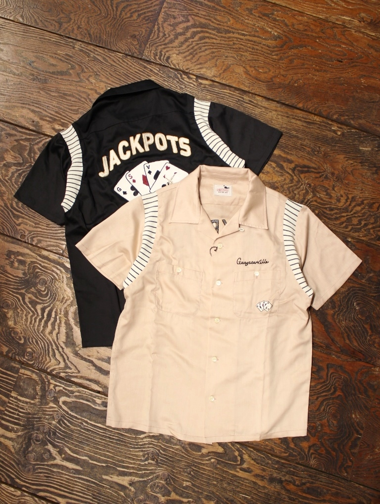 GANGSTERVILLE   「JACKPOTS - S/S BOWLING SHIRTS」 ボーリングシャツ