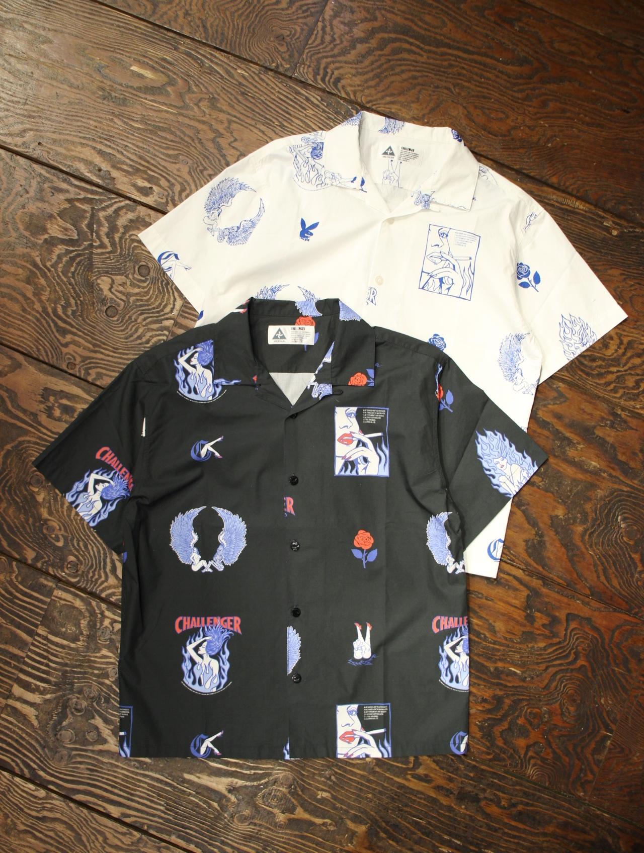 CHALLENGER   「S/S FIRE LADY SHIRT」 オープンカラーシャツ