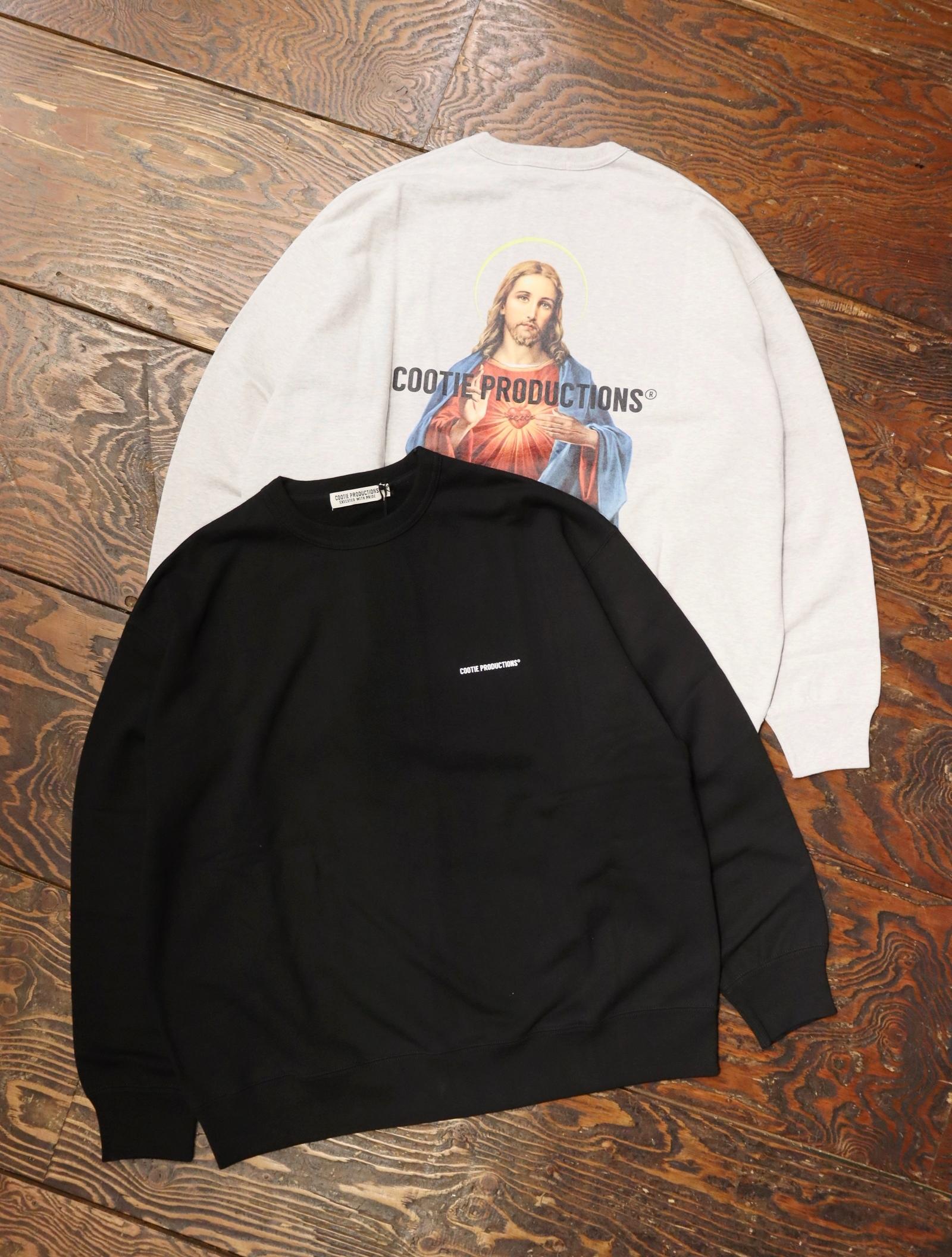 COOTIE  「Print Crewneck Sweatshirt (JESUS)」  クルーネックスウェット