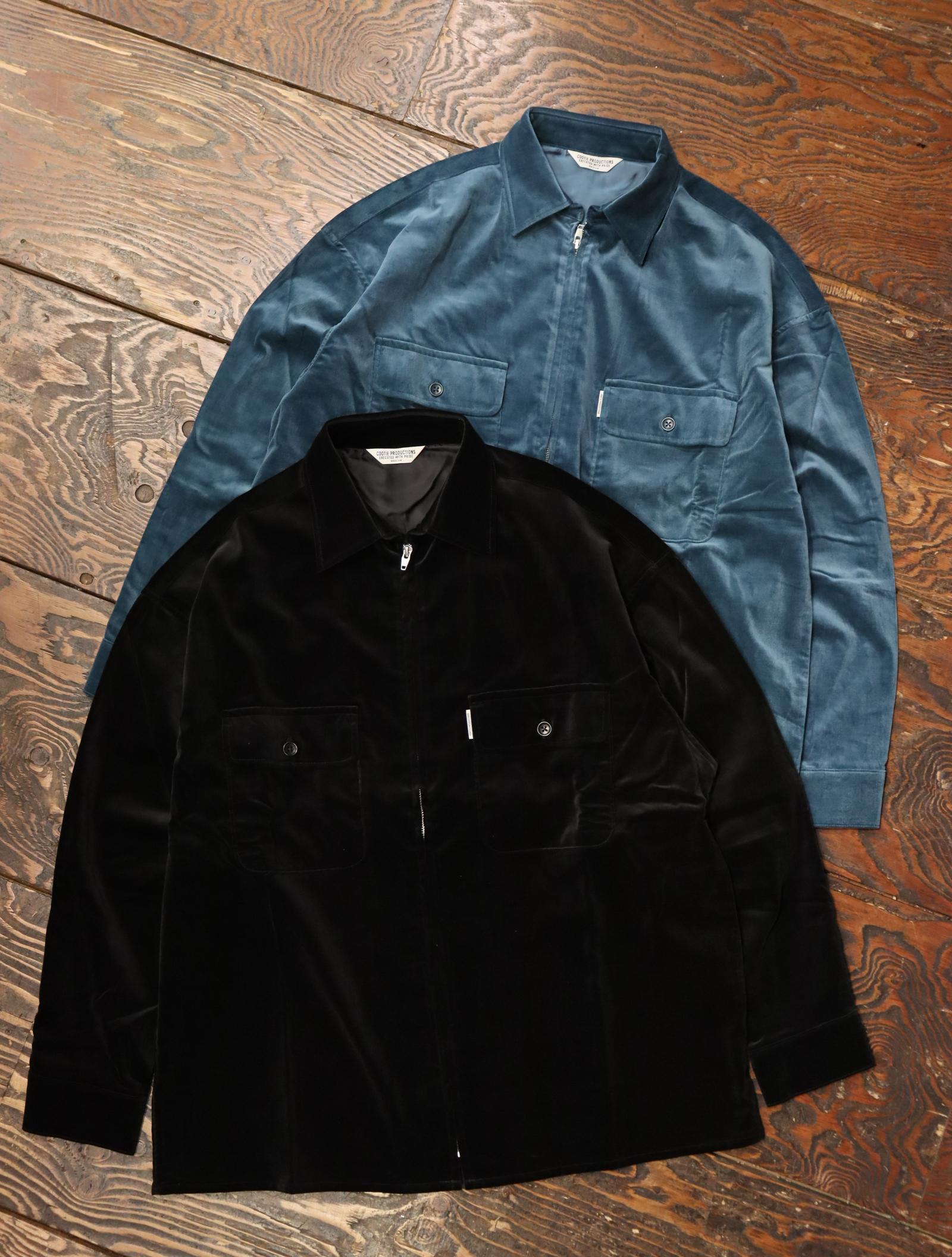 COOTIE  「Velour Zip Up Work Shirt」 ベロアジップワークシャツ