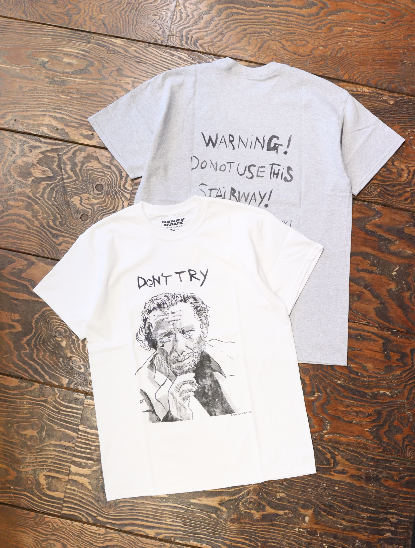 HENRY HAUZ  「 YO × HENRY HAUZ CT02 」 プリントティーシャツ