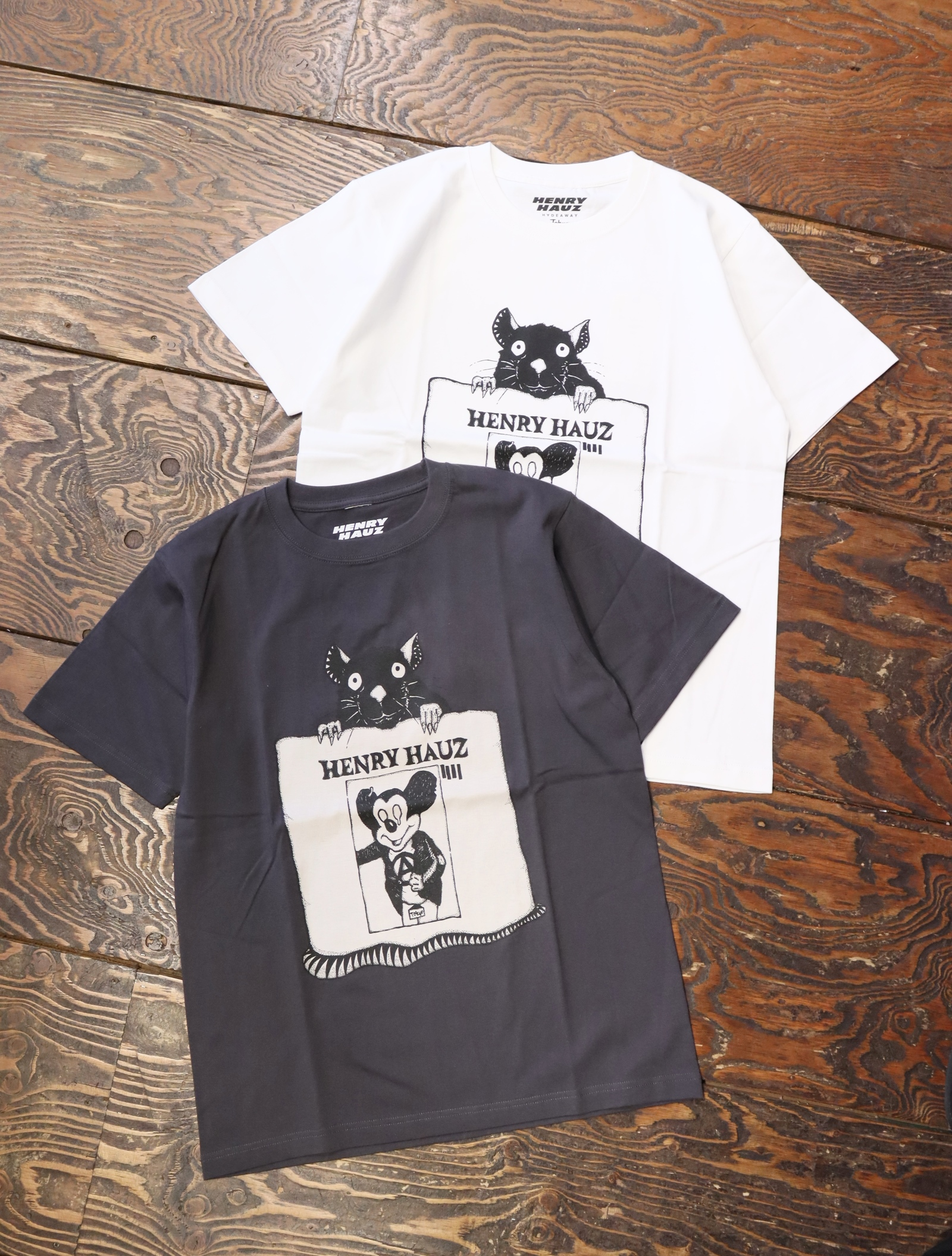 HENRY HAUZ  「 RYUJI KAMIYAMA × HH CT 」 プリントティーシャツ