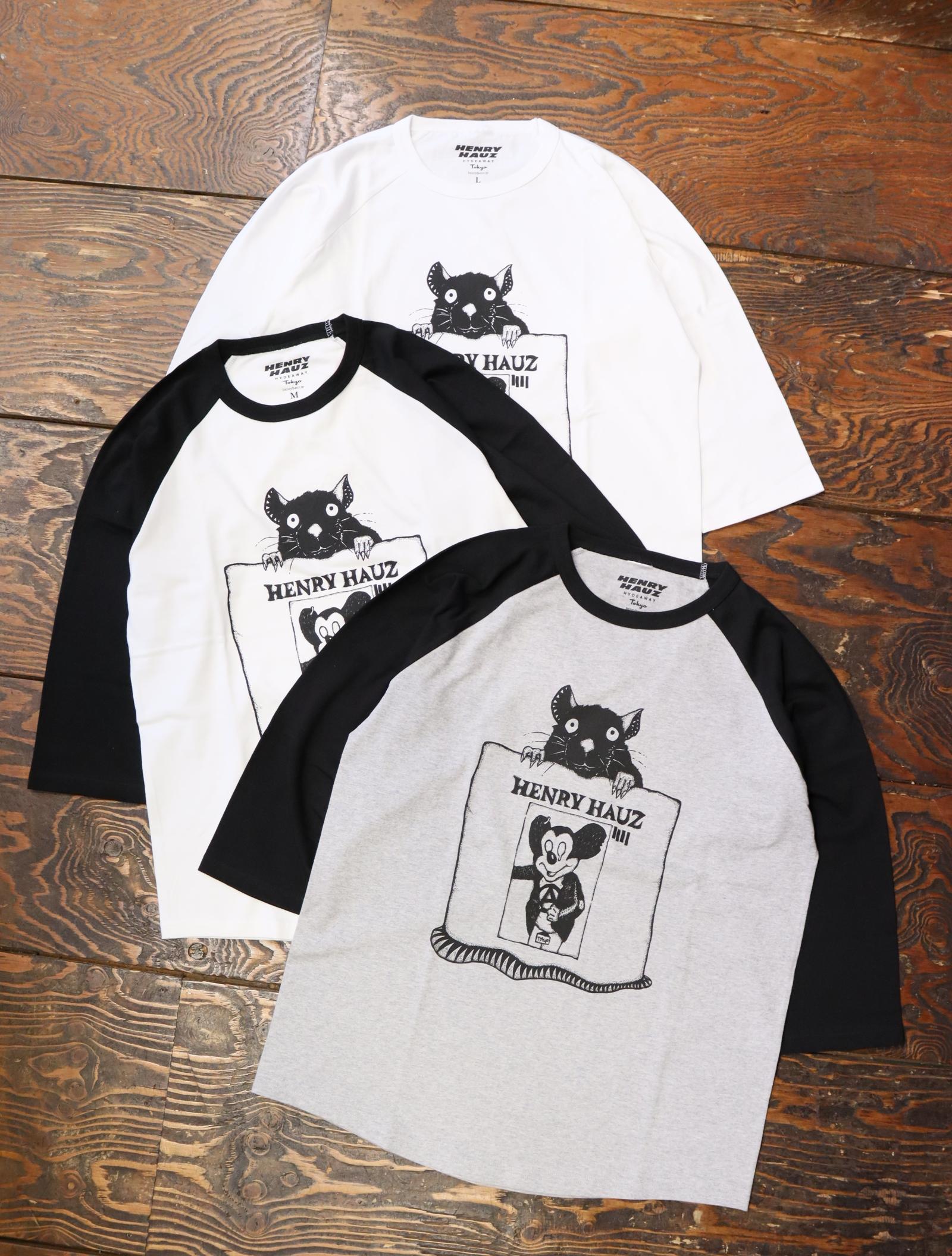HENRY HAUZ  「 RYUJI KAMIYAMA × HH QS 」 ラグラン7分袖ティーシャツ